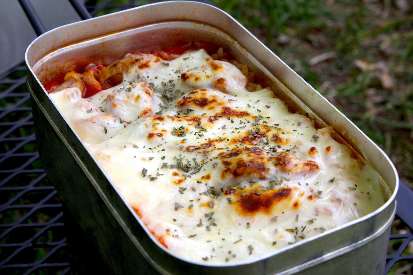 【メスティン自動炊飯】焼き鳥の缶詰を使ったチーズチキンライス